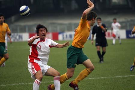 图文:亚青赛中国1-0澳大利亚 对手暗算王永珀