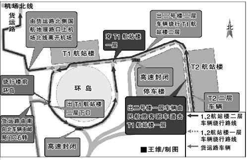 北京机场高速今日下午临时交通单向管制