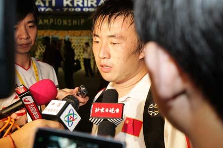 王永珀感谢教练组赏识 目标直指最后的冠军(图)
