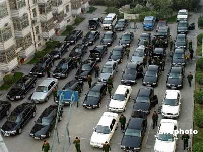 图文:中非论坛期间武警封存车辆