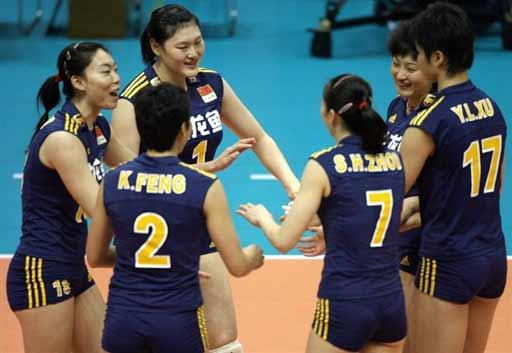 图文:女排世锦赛中国3-0墨西哥 获胜后的喜悦