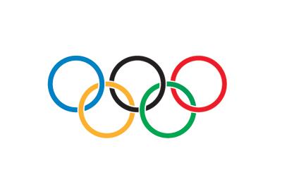 奥运会资料图片:奥林匹克五环标志