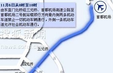 论坛期间交通管制示意图