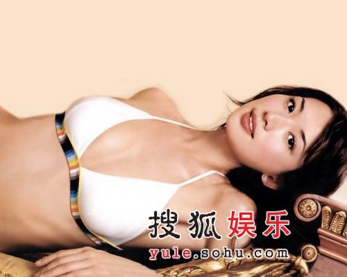 林志玲写真妩媚万千 大秀酥胸香肩撩人心魂(图)