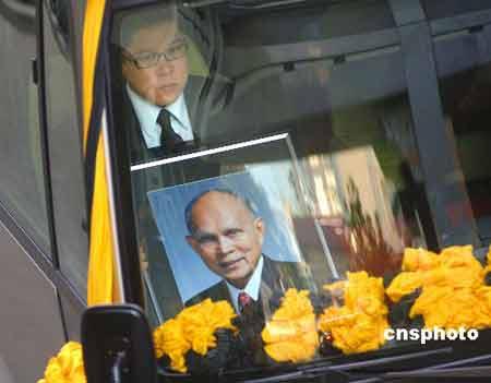 香港殡仪馆今日公祭霍英东 全国各界作最后致敬