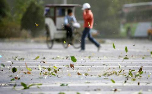 北京城区刮风沙