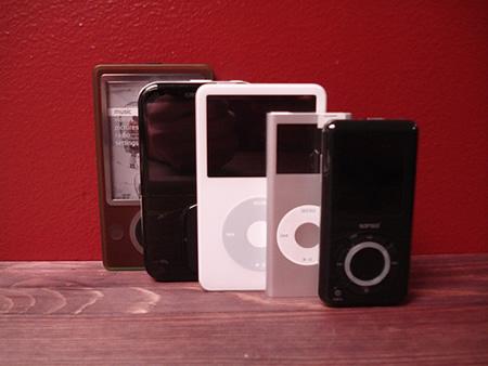 Zune、30GB iPod
