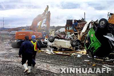 日本北部暴风肆虐造成34人伤亡(组图)