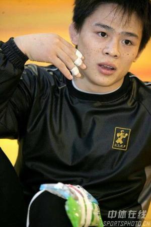 图文:中国男子古典式摔跤队 60公斤级选手盛江