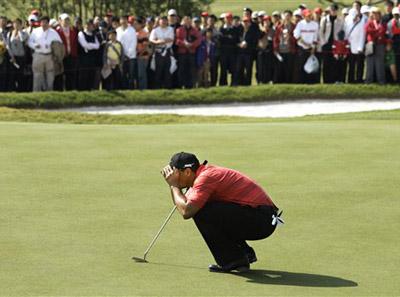 图文:汇丰高尔夫赛伍兹竭尽全力 仍只获第二