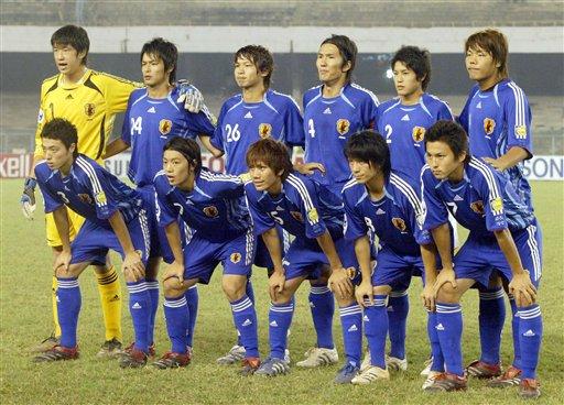图文:亚青赛朝鲜点杀日本夺冠 日本队员合影