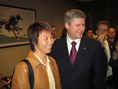 资料图:致力于体育文化推广 加拿大总理赞高红