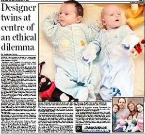 """英国夫妇为生健康婴儿接受""""基因筛选""""(组图)"""