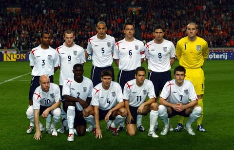 图文:友谊赛荷兰VS英格兰 英格兰队出场阵容