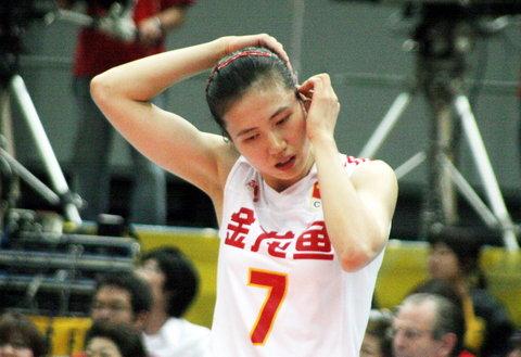 图文:女排世锦赛中国队获得第五名 周苏红理装