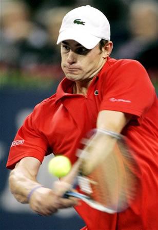 组图:上海大师杯网球赛 罗迪克对阵纳尔班迪安