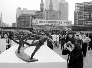 奥运景观雕塑宁波巡展