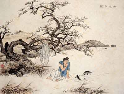 古代24个孝子的故事之十八:卧冰求鲤-搜狐新闻