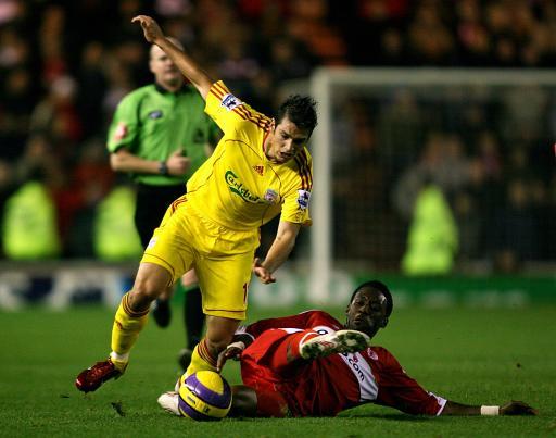 图文:利物浦VS米德尔斯堡 冈萨雷斯表现出色