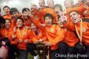 图文:山东2-0大连再获双冠王 队员庆祝