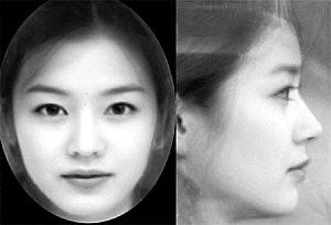大眼薄唇鼻梁挺直韩国人最喜欢的美女脸高清图片