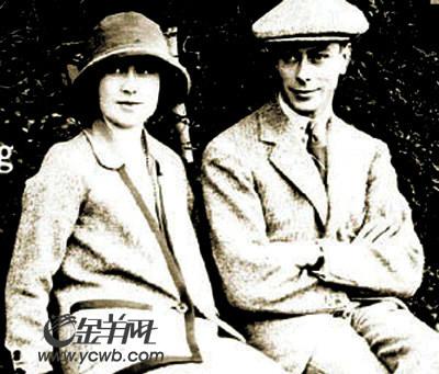 伊丽莎白与丈夫乔治六世蜜月时的照片.