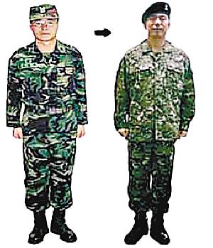 现代士兵服饰手绘