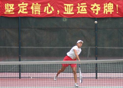 图文:中国软网备战多哈 亚运目标夺牌