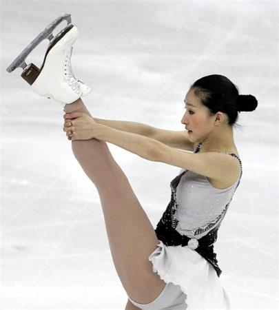 图文:花样滑冰大奖赛俄罗斯站 刘艳精彩表现
