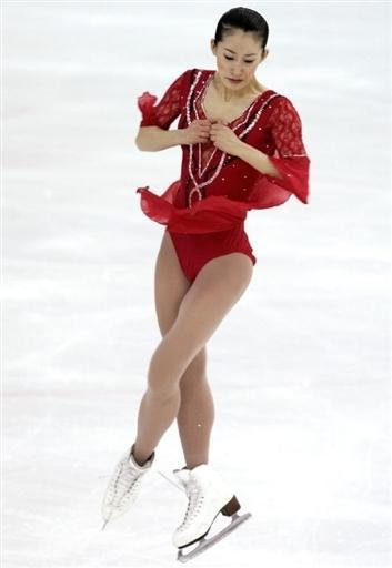 图文:花样滑冰大奖赛俄罗斯站 刘艳参加自由滑