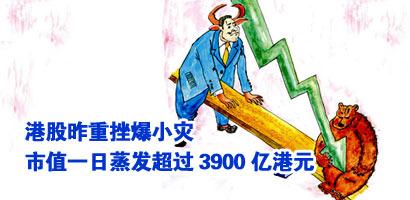 港股昨重挫爆小灾 市值一日蒸发超过3900亿港元