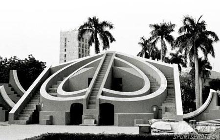图文:1982年新德里亚运会 会标原型古天文台