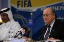 图文:国际足联和卡塔尔足协召开记者发布会