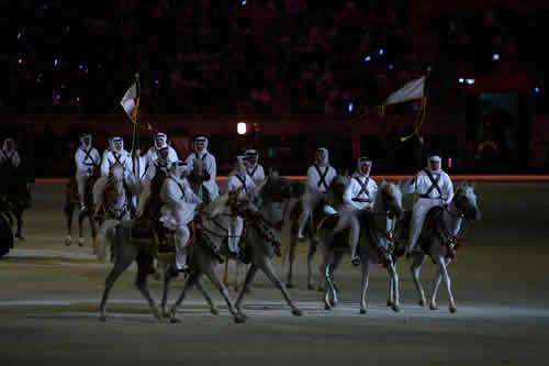 图文:多哈亚运开幕式 大型表演再现阿拉伯历史