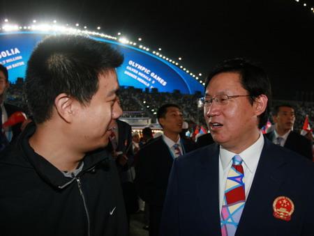 图文:搜狐体育直击开幕式 国象总教练叶江川