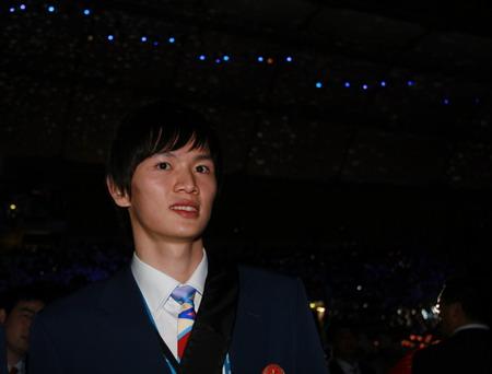 图文:搜狐体育直击开幕式 微笑的鲍春来