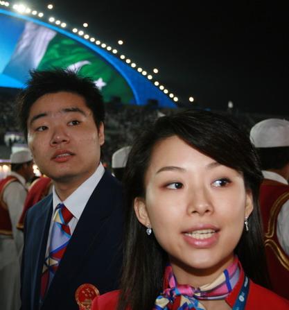 开幕式鲍春来潘晓婷最受欢迎 女选手称小鲍帅气