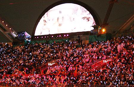 图文:卡塔尔民众热情高涨 鸟瞰看台