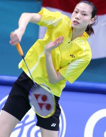 组图:昔日霸主一局未胜 中国女羽5-0印尼跻身4强