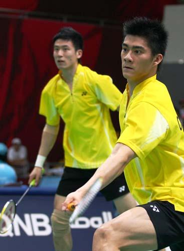 图文:蔡赟付海峰2-1获胜 羽毛球男团2-0印尼