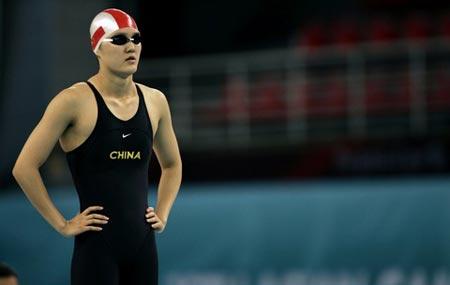 图文:女子200米自由泳预赛 庞佳颖表现不俗