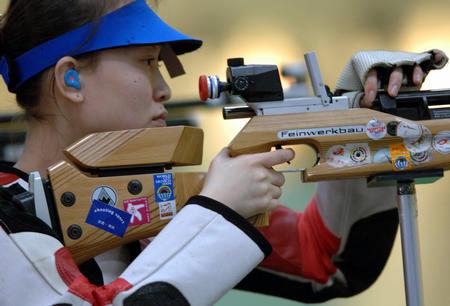 图文:多哈亚运会 中国选手赵颖慧在比赛中