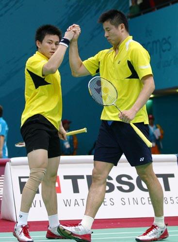 图文:羽毛球男团中国3-1击败印尼 双打全取胜