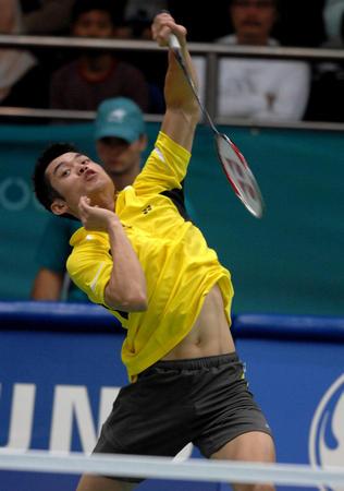 图文:羽毛球男子团体赛第二轮 中国队3-1印尼