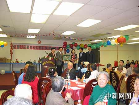 休斯敦各界为华裔老人祝寿 德州州长颁文告(图)