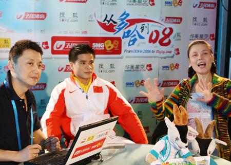 12月3日精选图:亚运会冠军李争做客华奥-搜狐