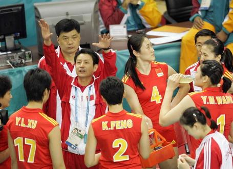组图:亚运女排小组赛 中国3-0轻松击败韩国队