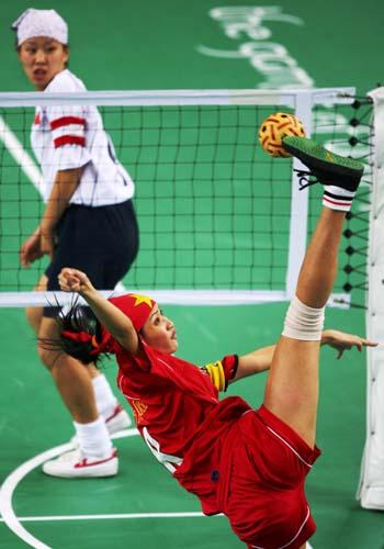 组图:藤球比赛中国对阵越南 首战1-2告负