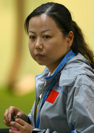 组图:女子10米气手枪团体赛 中国队夺金