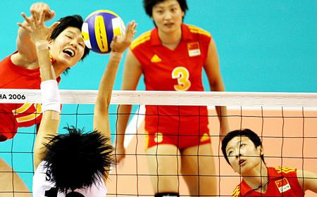 亚运中韩战无悬念 中国女排轻松克韩夺取两连胜